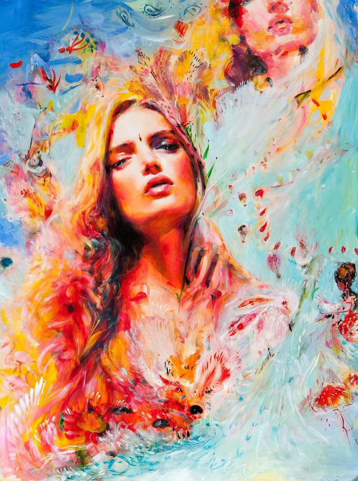 Acrylic Paintings Of Women S Faces
