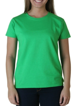 womens-gildan-ultra-cotton-irish-green-t-shirt-front3