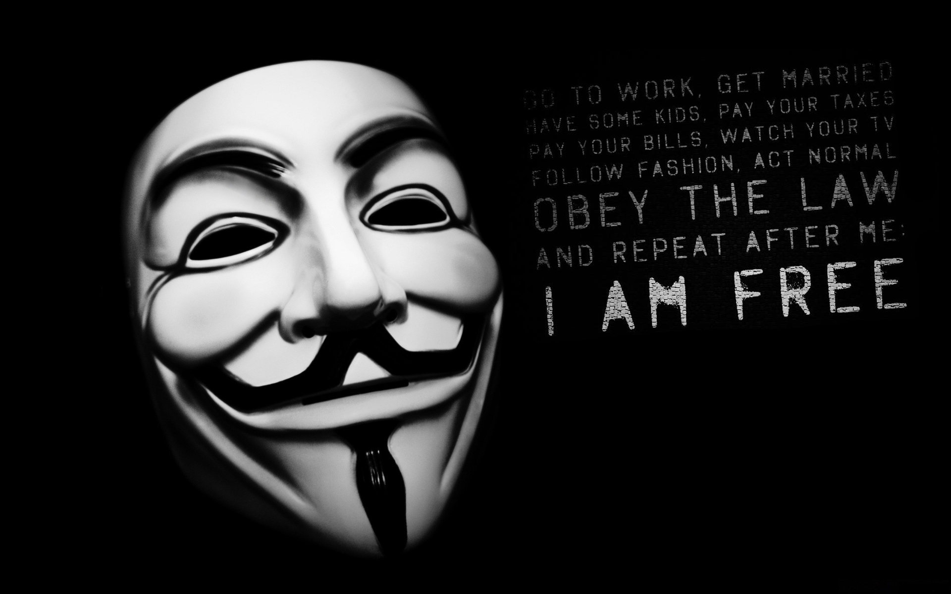I Am Free Wallpaper Anonymous-Wallpaper I Am Free
